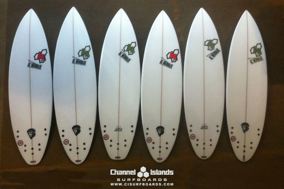 Kelly Slaters' Quiver for Jeffreys Bay 2011 Bottoms