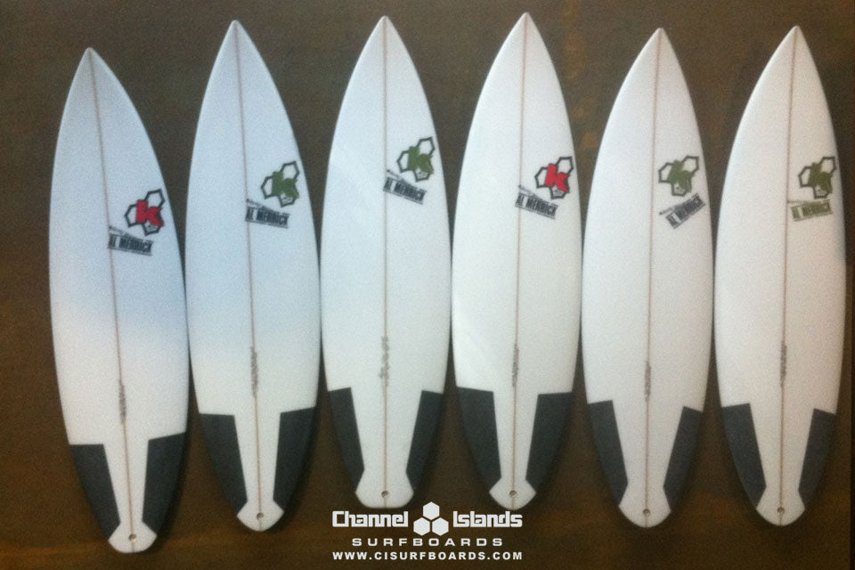 Kelly Slaters' Quiver for Jeffreys Bay 2011 Decks