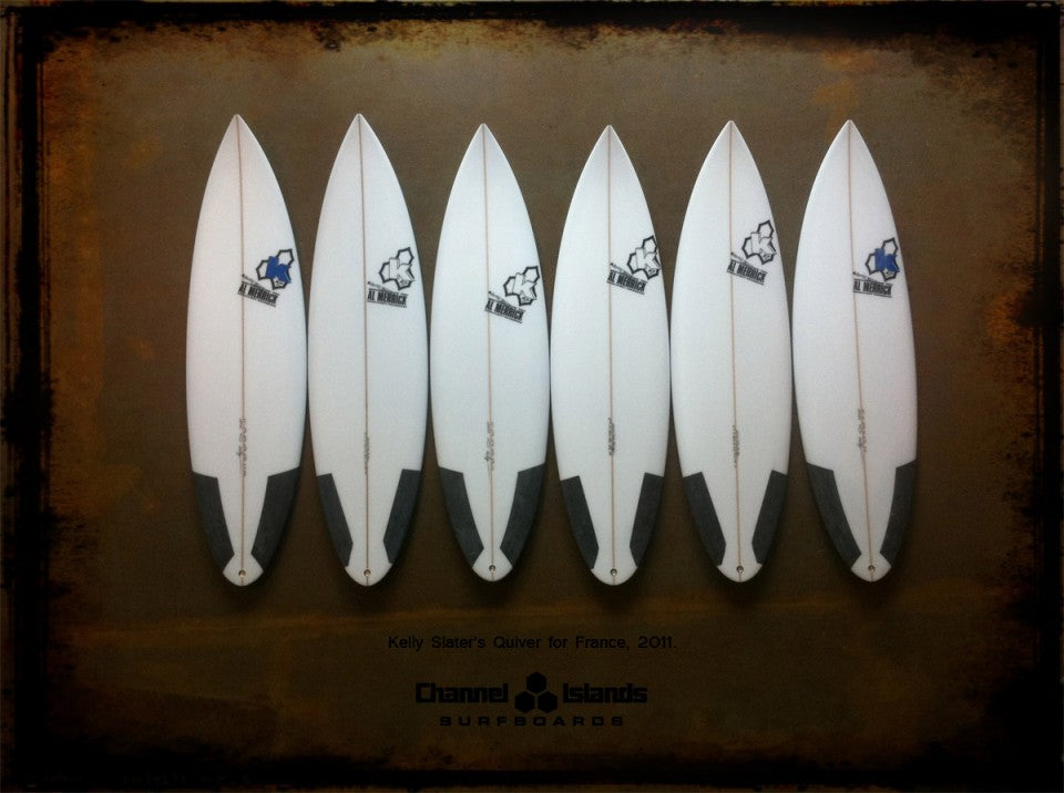 Kelly Slater's Quiver for France 2011 Decks