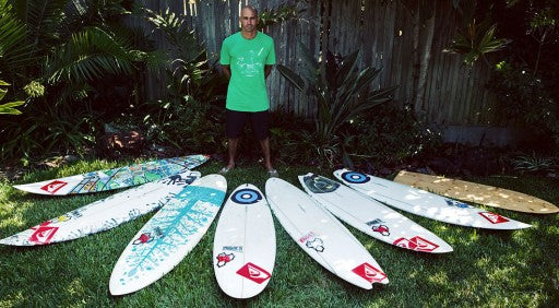 Kelly Slater's Channel Islands Surfboard Quiver