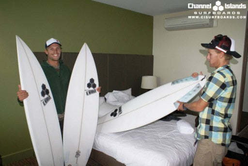 Pat (left) and Tanner (right) size up there Bell's quiver.