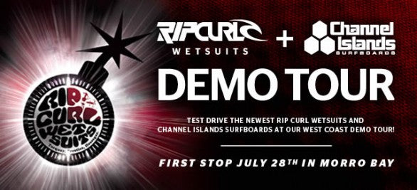 Rip Curl and Channel Islands Surfboards Join Forces For West Coast Demo Tour!