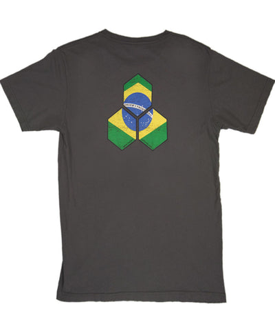 Brazil Distressed Hex Tee