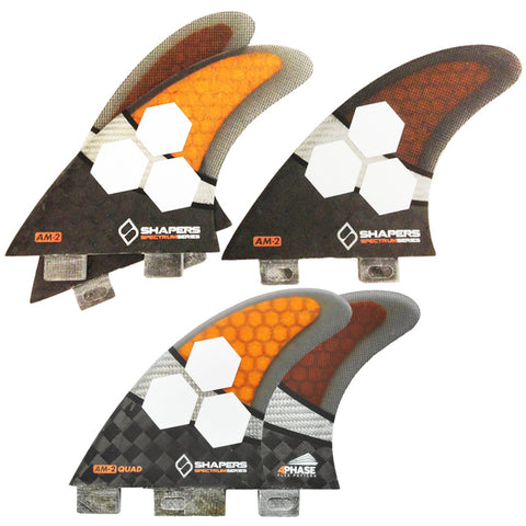 Shapers dual tab Spectrum Large 5 Fin Set