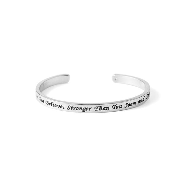 You're Braver Than You Believe Stronger Than You Seem Bracelet - Pelry