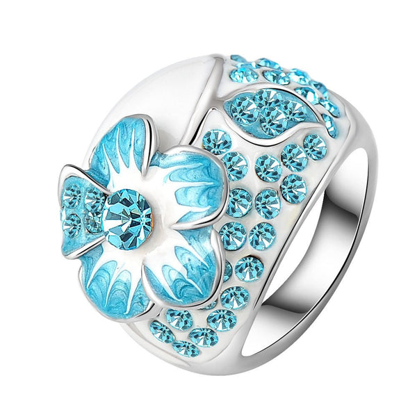 Hand Painted Flower Ring - Pelry