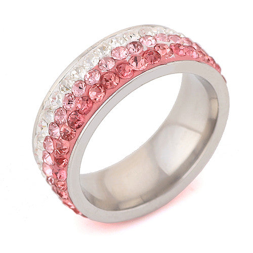 Stainless Steel Pink Ring - Pelry