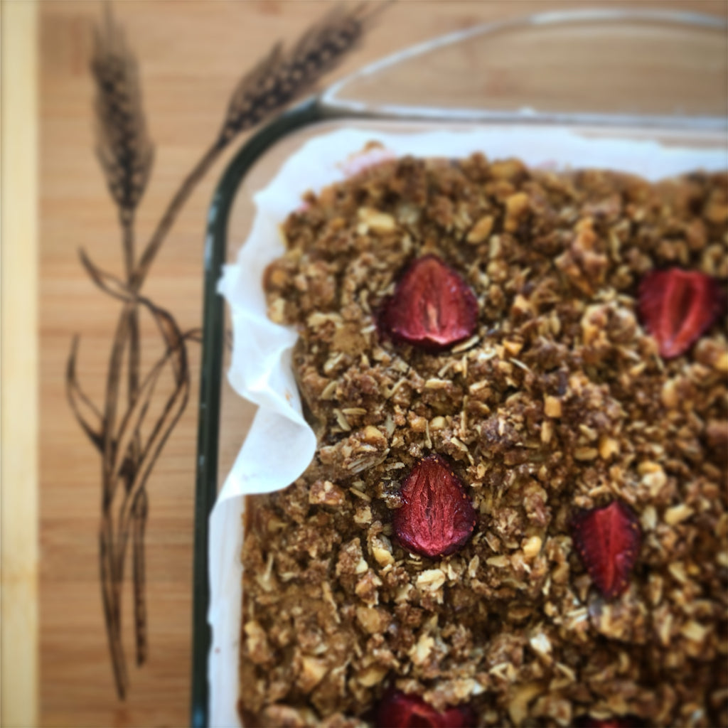 Whole Grain Strawberry Breakfast Cake