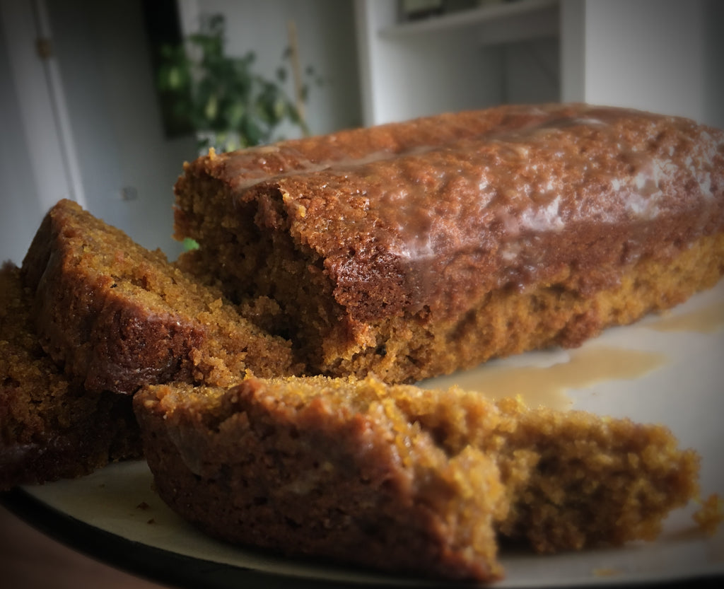 Einkorn Pumkin Loaf With Maple Glaze