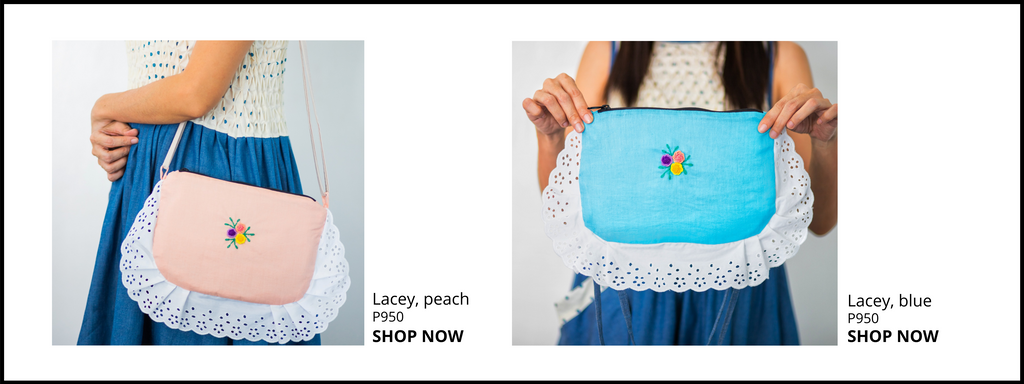 Lacey embroidered bag