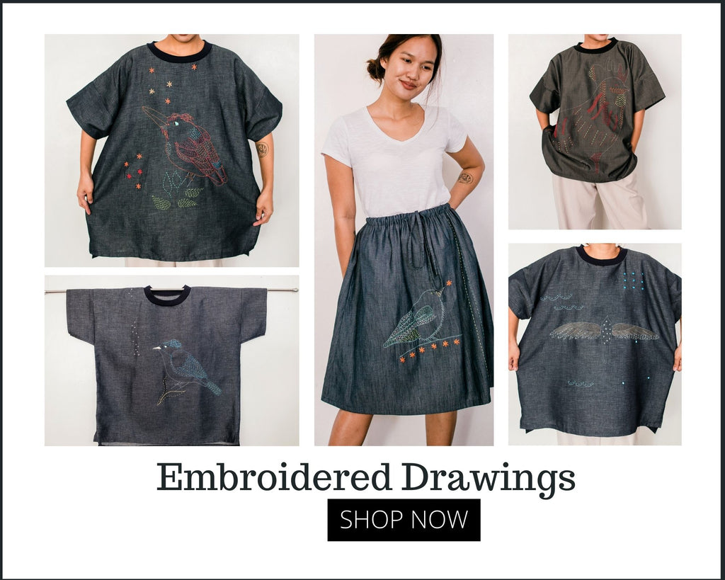 shop embroidered drawings