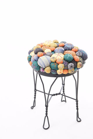 Custom Lucky Buttons Stool