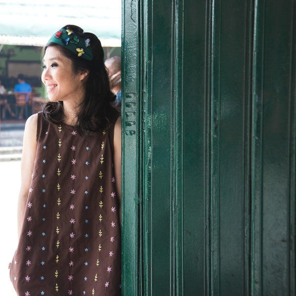 Daisy Dress - brown cotton