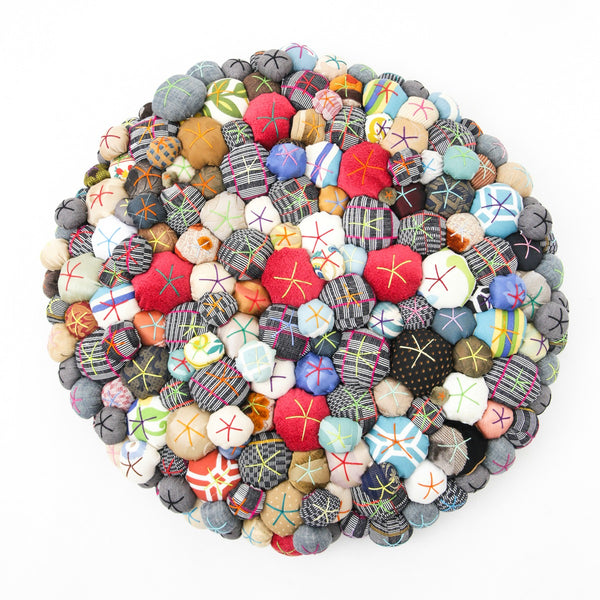 Lucky Buttons Floor Pillow