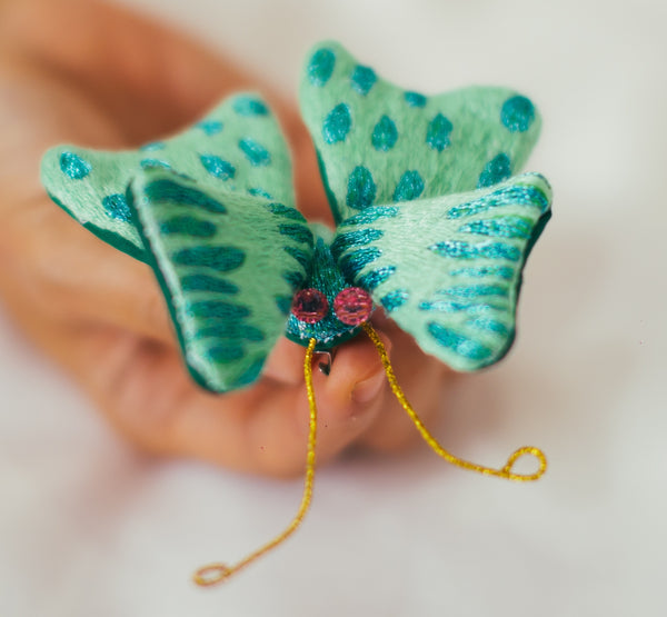 Winged Creature no. 25 - Butterfly Art Brooch
