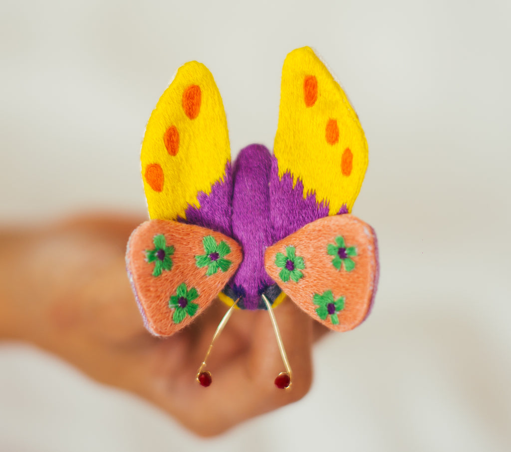 Winged Creature no. 23 - Butterfly Art Brooch