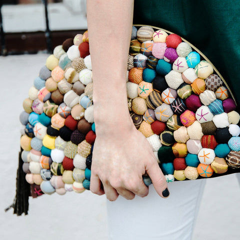 RECYCLED LINE Luna Clutch