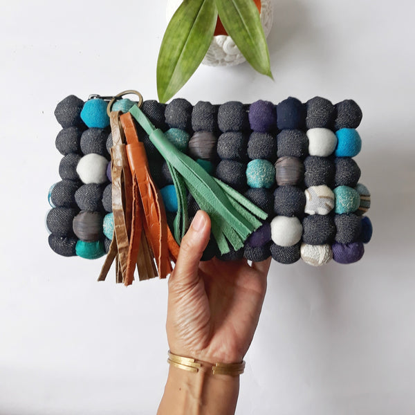 Denim Princesa Clutch