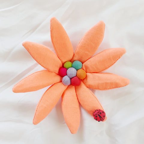 Ladybug Orange - Art Brooch