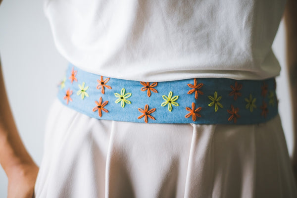 Nikki Fabric Belt - denim