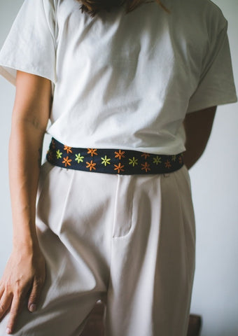 Nikki Fabric Belt - navy blue twill