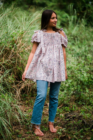 Berry Off-the-Shoulder Tunic
