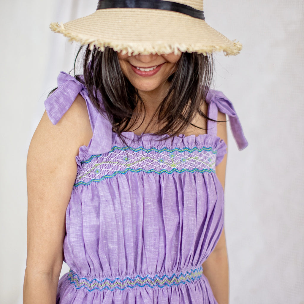 Betty Dress - lavender linen