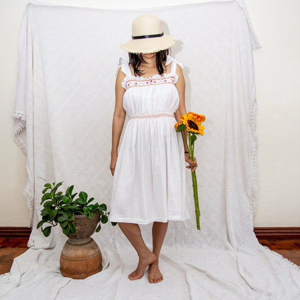 Betty Dress - white linen