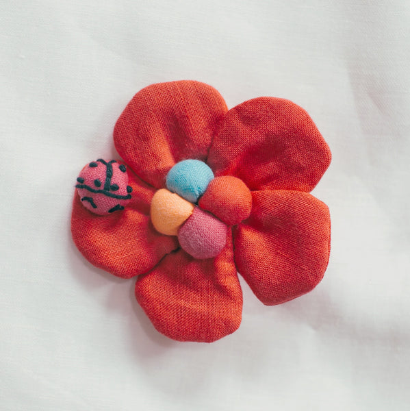 Ladybug Red - Small Art Brooch