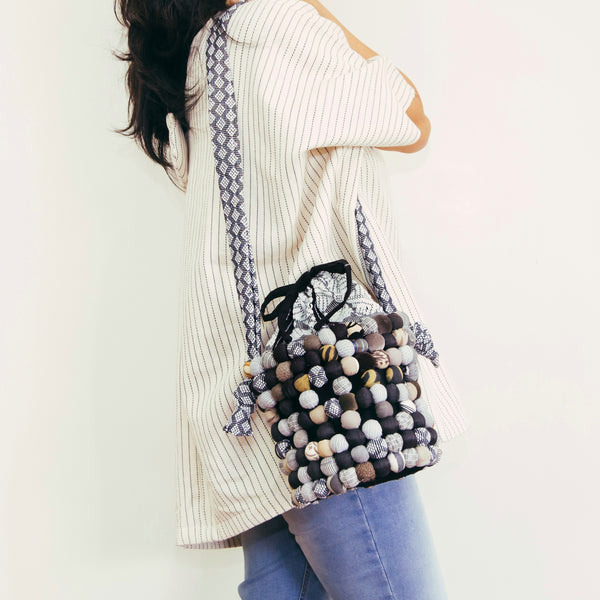 Two-Way Bucket Bag in Black