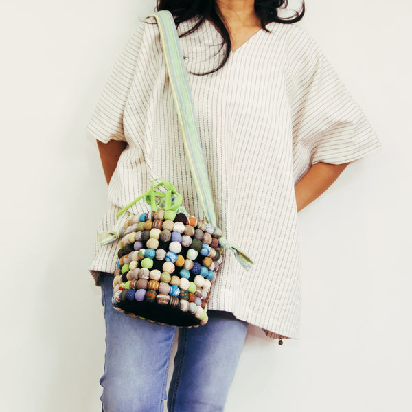 Two-Way Bucket Bag in Green