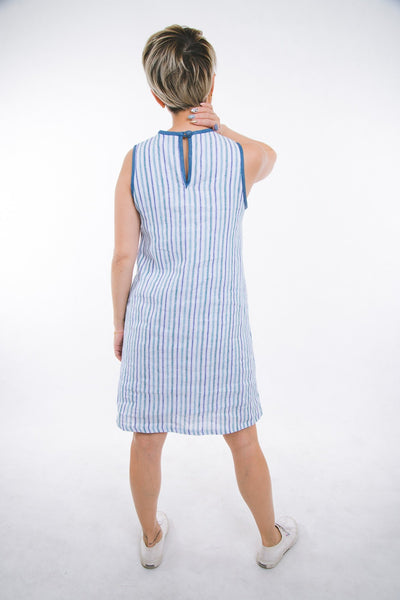 Clarisse Dress - linen & denim