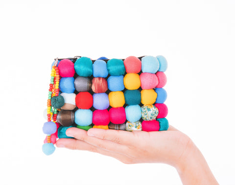 Lucky Buttons Coin Purse in Melange