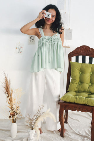 Cora Top  - pale green