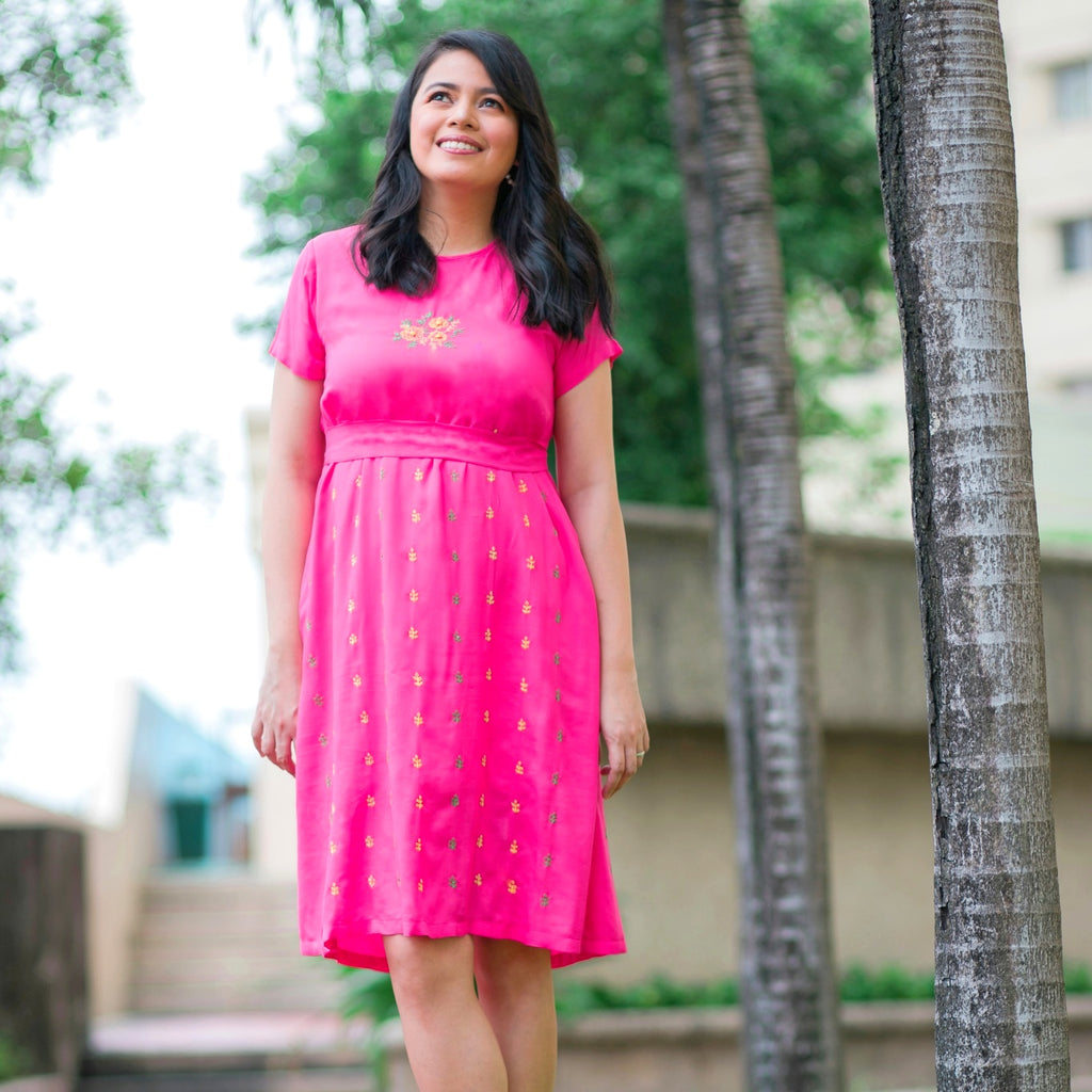 Cosmos Dress - fuchsia