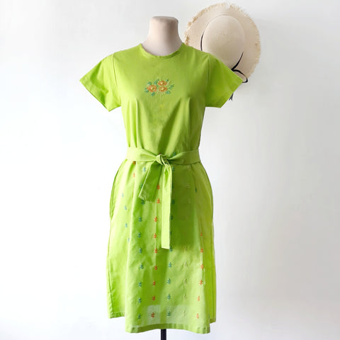 Cosmos Dress - bright green