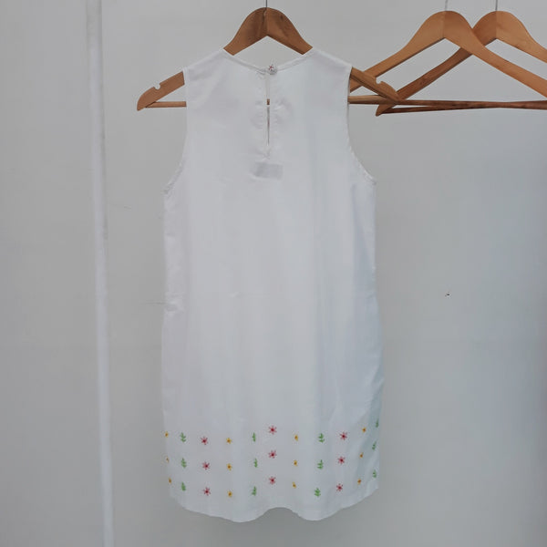 Daisy Dress - white cotton