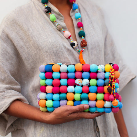 Dukesa Clutch in Summer Linen