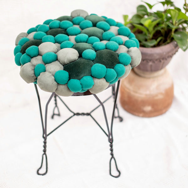 Lucky Buttons Stool - Green