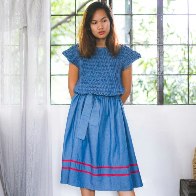 Inez Dress - blue denim