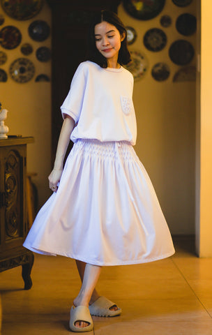 Kim white cotton dress
