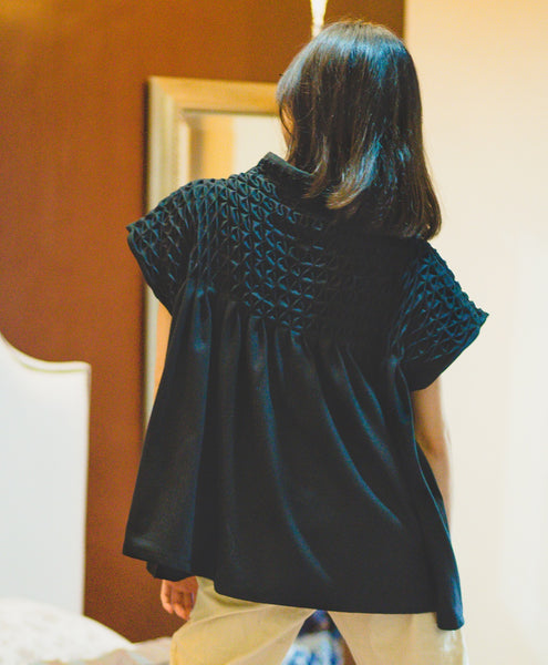 lily black cotton jersey