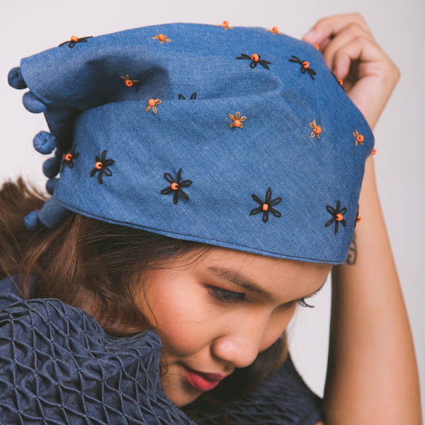 Lucille Kerchief - denim