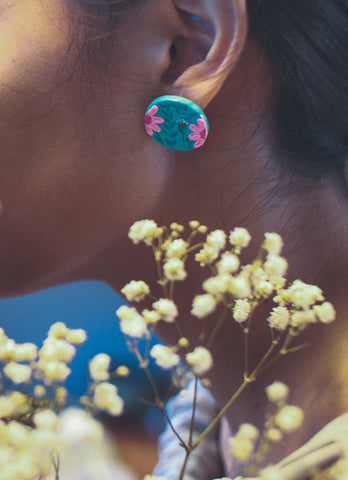 Hand-Painted Flora Earrings