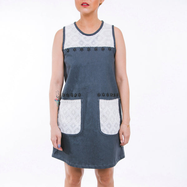Mary Inabel Shift Dress - gray