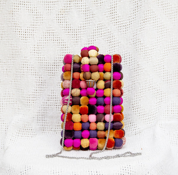 Cellphone Case in Pink Lucky Buttons