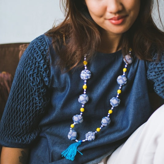 Lucky Necklace - blue inabel