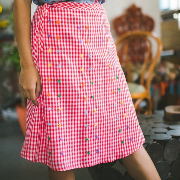 Nenita Skirt - Red Checks