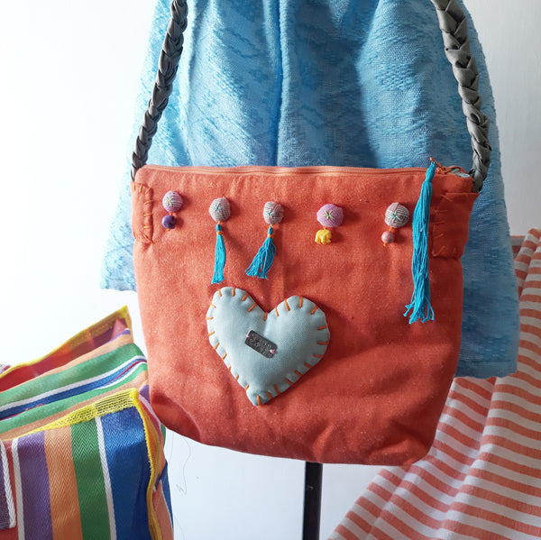 Happy Orange Shoulder Bag
