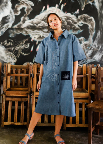 Claire Oversized Women's Shirtdress - Salungo